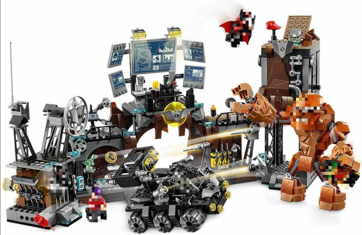 Batcaves Clayfaced inwazja kompatybilny Batmaninglys superbohaterowie klocki edukacyjne zabawki dla dzieci kompatybilny 76122
