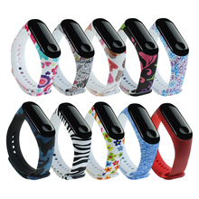 Printing Silicone Bracelet For Xiaomi Mi Band 3 wrist strap Wristband Watch Band Soft Replacement Strap Smart Accessories Smart