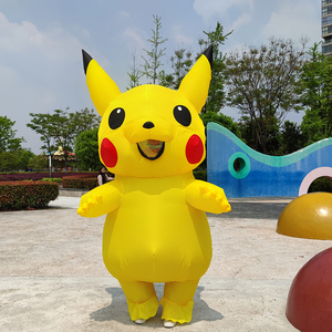 Image 2 - Yellow Inflatable Costume Anime Cosplay Mascot Carnival Fantasy Halloween Costumes for women Adult Kids
