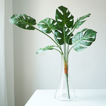7 Leaves Diy Simulated Tropical Palm Leaves Monstera Leaves Bouquet  Artificial Palm Leaves Bouquet artificial tropical palm leaves monstera leaves 7 leaves bouquet 70cm simulated green plant leaf for indoor home decoration
