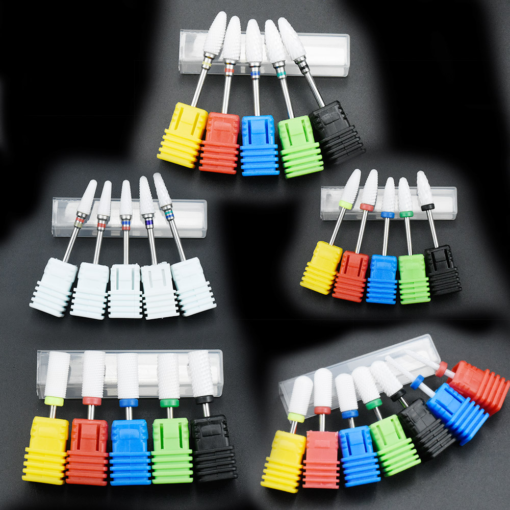 Most Complete 27 Type Ceramic Nail Drill Bit For Electric Drill Machine Manicure Accessory Ceramic Milling Cutter Nail File Tool