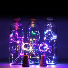 New Year 2020 1m 10Led / 2m 20Led Wine Bottle Light Copper Wire Fairy Mini String Lights Christmas Decorations Kerst Natal Decor
