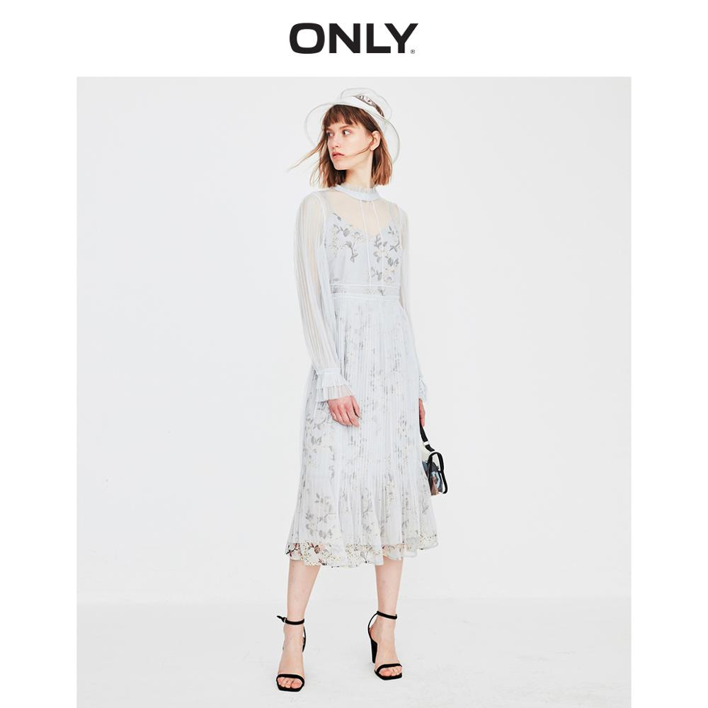 ONLY Women's Pleated Gauzy Chiffon Suit Dress | 119161518