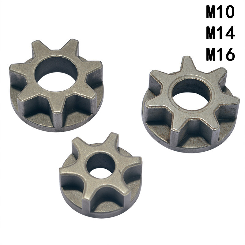 M10/M14/M16 Chainsaw Gear For 100 115 125 150 180 Replacement Gear Various Angle Grinder Power Tool Chainsaw Bracket Woodworking