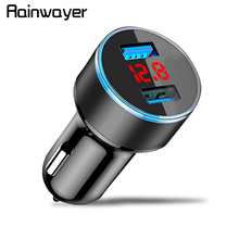 Universal Dual USB Car Charger 3.1A 5V With LED Display Phon