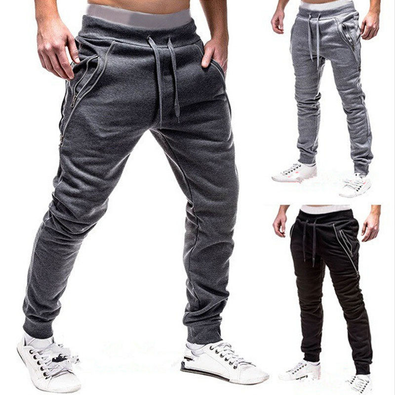 Men Sports Pants Long Trousers Tracksuit Fitness Workout Joggers Gym Sweatpants Men Sports Pants Long Trouser Tracksuit Fitness
