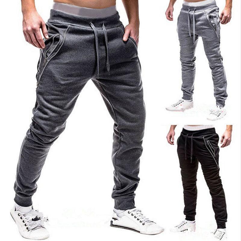 Men Sports Pants Long Trousers Tracksuit Fitness Workout Joggers Gym Sweatpants Men Sports Pants Long Trouser Tracksuit Fitness