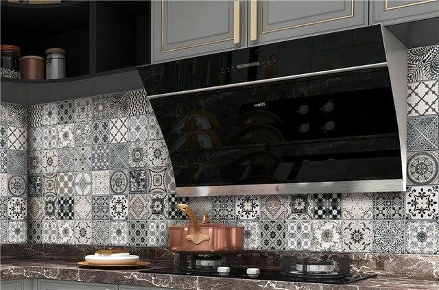 المطبخ خلفية ارتفاع درجة الحرارة مكافحة النفط لصق المطبخ ملصقا ذاتية اللصق احباط مقاوم للماء الحمام خلفية 4