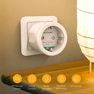 Image 2 - BlitzWolf 3680W 16A EU Plug WIFI Smart Socket Outlet Remote Control Timing Electricity Monitor Work with Alexa Google Assistant