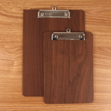 A4/A5 Wooden Memo Clipboard Meeting Record Writing Clip Board Can Hangable Student Drawing Folder File Hardboard Office