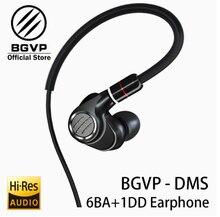 BGVP DMS HIFI híbrido auricular en la oreja los monitores nuevo 2019 6BA armadura equilibrada conductor de alta resolución MMCX