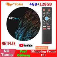 New 4K Smart TV BOX Android 9.0 HK1 MAX TV BOX Rockchip 4GB RAM 128GB ROM 64GB Media player HK1MAX Set top Box 2G/16G PK X96 Max