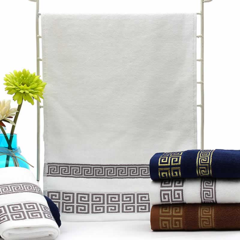 33x74cm Soft Cotton Face Towels Beach Towel Adults Handkerchief Hand Face Hand Sheet Men Women Basic Towels (Not Bath Towel)