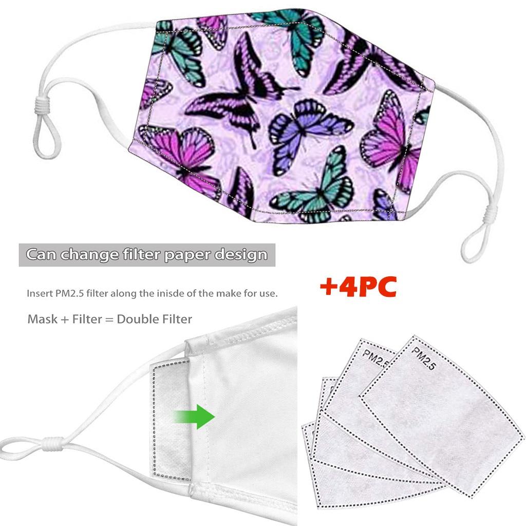 Women Men Dustproof Windproof Foggy Haze PM2.5 Mask With 4PC Mask Gasket Face Mask Filter Girl Masque Anti Virus Adulte Lavable