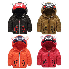 Boys Cartoon Jackets 2019 Autumn Hooded Outerwear Girls Warm Down Jacket Winter Baby Kids Coat Clothes Children Outerwear Jacket grandwish winter jacket for boys girls children s down jackets overall kids hooded parka clothes set coat 18m 5t jc308
