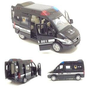 Image 2 - 1:32 救急車パトカーモデル合金ダイキャストメタルプルバック音光の子供のおもちゃ車消防車車モデル子供ギフト