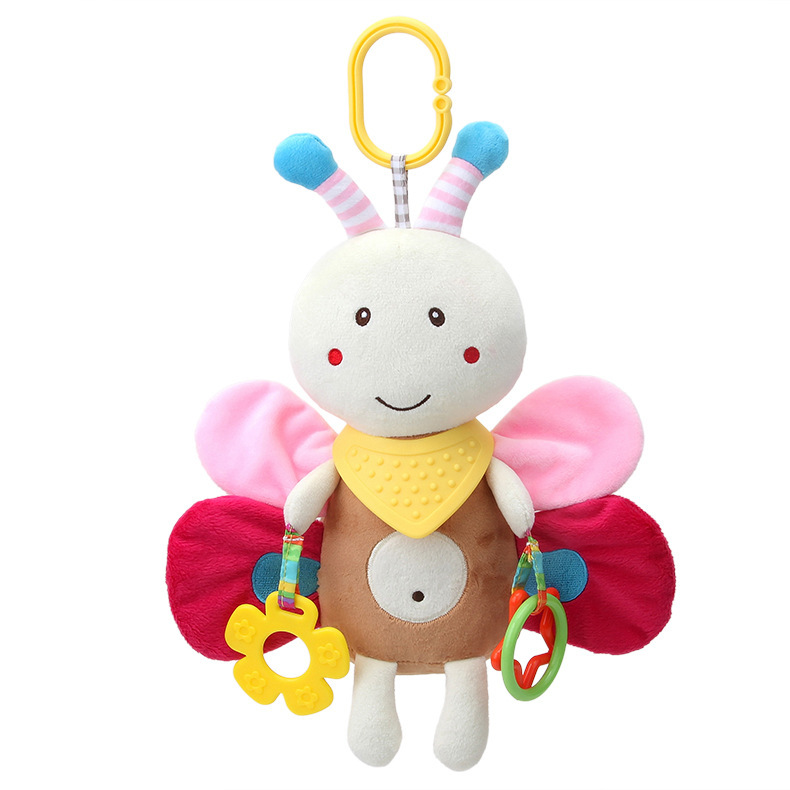 S11. Multi-functional Bed Hanging Teether Pacify Doll Puppy Rabbit Jingle Doll Trolley Hanging Baby Toys