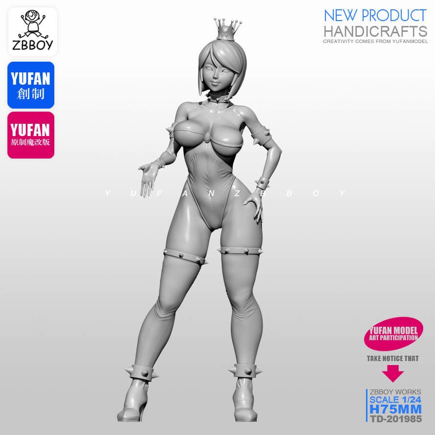 1/24 Resin Figure Kits Sexy Small Resin Queen Model Self-assembled TD-201985