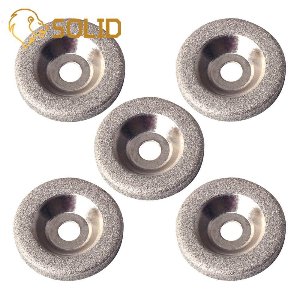 50mm Plating Diamond Grinding Wheel Disc Grinding Circles For Tungsten Steel Sharpener Grinder Accessories 5Pcs/Set