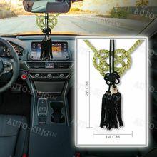 Amuleto de unión de estilo VIP, producto JDM Fusa, cuerda blanca Kiku JP, nudo