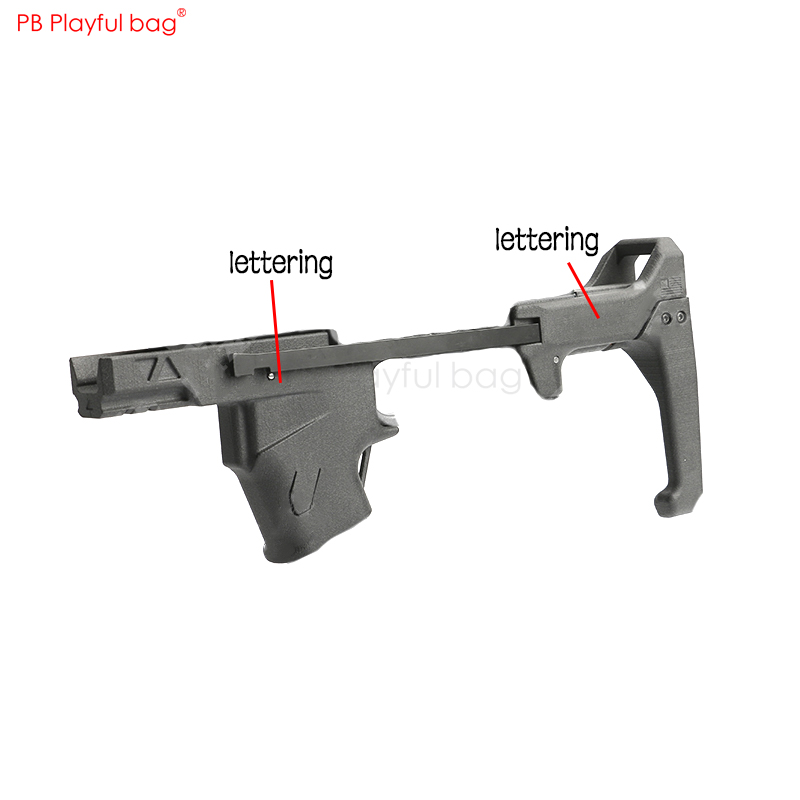 Water Bullet Refitted P1 Upgrade Material Slide Sleeve Nylon Sintered Rear-support/grip Water Bullet Toy Gun Accessories KD66.1