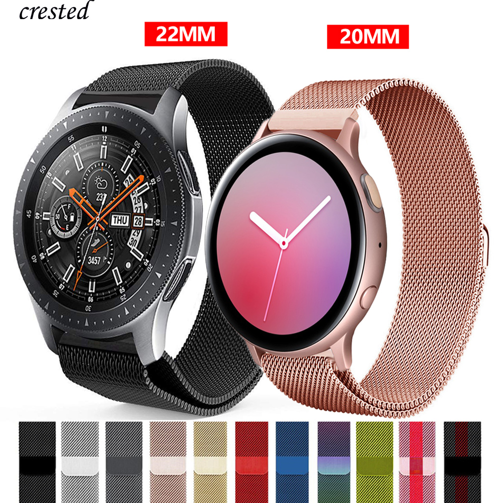 Milanese Strap For Samsung Galaxy Watch 46mm/42mm/Active 2 Band Gear S3 Frontier/S2 Stainless Steel Huawei Watch GT 2 46 Mm GT2