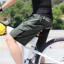 WOSAWE männer MTB Radfahren Shorts Mit Gel Gepolsterte Radfahren Unterwäsche Wasserdicht Bike Shorts Sport Hosen Spinning