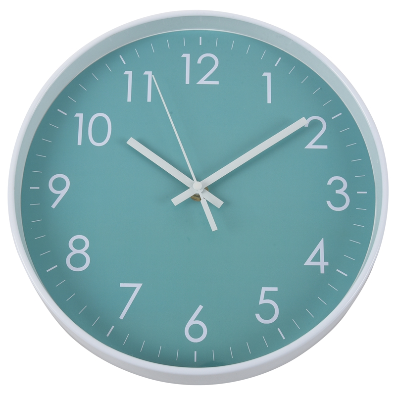 Modern Simple Wall Clock Indoor Non-Ticking Silent Sweep Movement Wall Clock For Office,Bathroom,Livingroom Decorative 10 Inch T