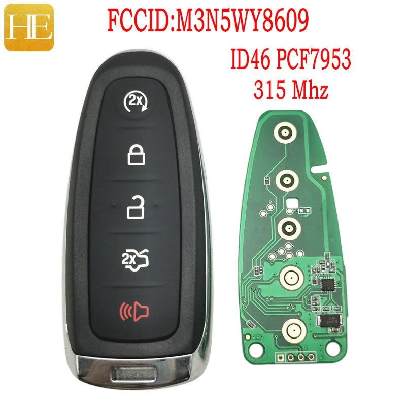 Ele xiang chave remota do carro para ford edge explorer escape flex foco taurus m3n5wy8609 id46 315 mhz autocontrole inteligente chave de promissity