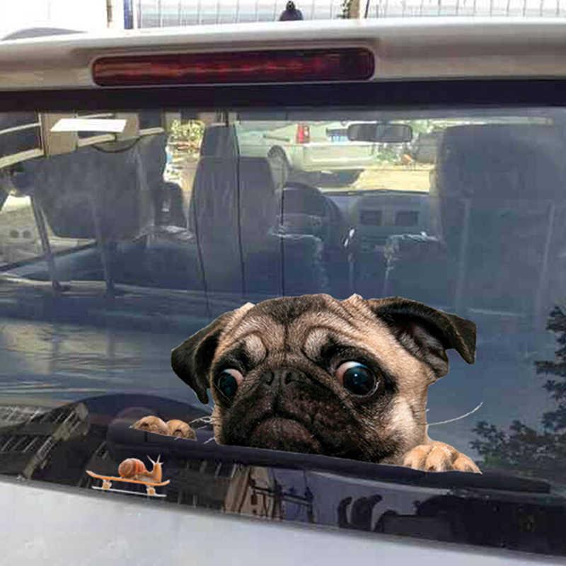 3D Мопс Улитка автомобиля стикер Мопс собаки Улитка автомобиля стикер мультфильм автомобиль Стайлинг стены для дома, для окон и стекла для двери, ноутбука грузовика виниловые наклейки