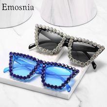 Lunettes de soleil carrées surdimensionnées en diamant pour femmes et hommes, à grande monture de luxe en cristal, avec strass, UV400, nouvelle collection 2020