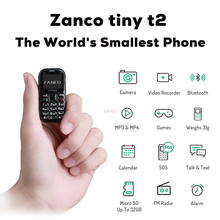ZANCO GSM/WCDMA Adaptive Fast Charge New World-Smallest-Phone Unlocked Tiny Mini Package