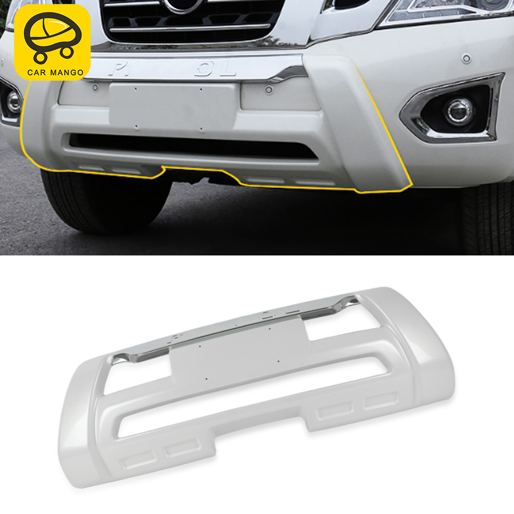 CARMANGO for Nissan Patrol Y62 Car Front Bumper Lip Splitter Diffuser Spoiler Fender Protector Exterior Replacement Parts