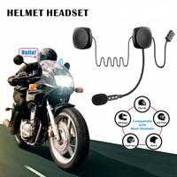 Casco antiinterferencias de 50 M  resistente al agua  Moto  bluetooth  manos libres  bluetooth  intercomunicador V4.2 para motocicleta