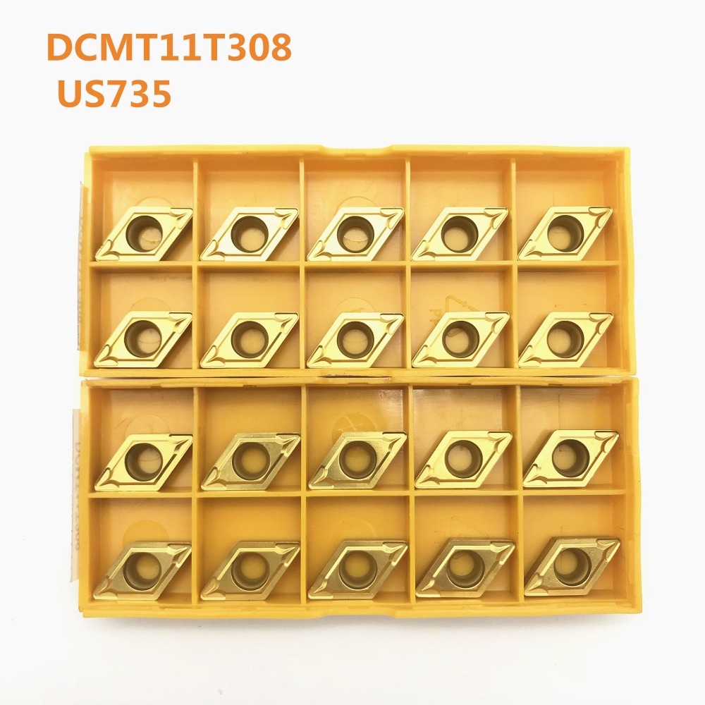 DCMT11T308 DCMT11T304 VP15TF UE6020 US735 Carbide Blade Internal Turning Milling Cutter CNC Tool Lathe Tool DCMT11T308