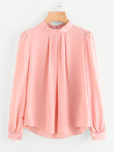 Long Sleeve Chiffon Shirt Maternity Tops and Blouses Ladies Solid Color O-neck Women Clothes Wear