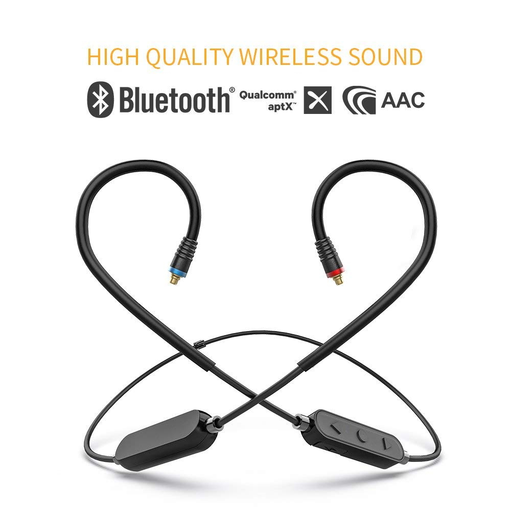 FiiO RC-BT HiFi Wireless Bluetooth Lightweight Headphone/Earphone Replacement MMCX Cable With AptX/AAC/SBC Support And Mic