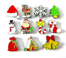 8mm Slide Charms Santa Christmas tree Elk Christmas Gift Sock Snowman Snowflake Fit Belt Keychain Bracelet Wristbands(China)