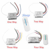 220V 4Ways ON/OFF/Sleep Digital RF Remote Control Switch Transmitter+ Receiver Wireless 315Mhz For Home Wall Light Lamp