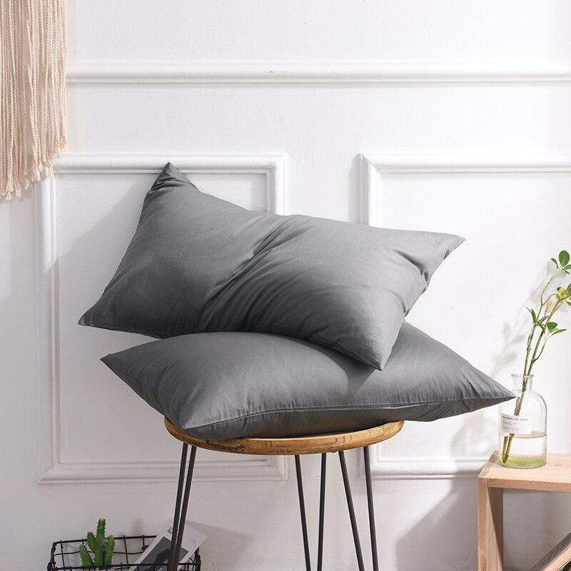 100% Cotton Solid Color Pillowcase 40x60 50x70 50x75 51x76 50x90cm Size Pillow Case Rectangle Soft Decorative Pillow Covers 1PC