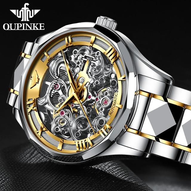 Rolexable Watch Hollow Skeleton Watch 2019 New OUPINKE Top Brand Sport Mechanical Watch Men Automatic Luxury Watch Montre Homme Jewellery & Watches Male Watches Men's Fashion