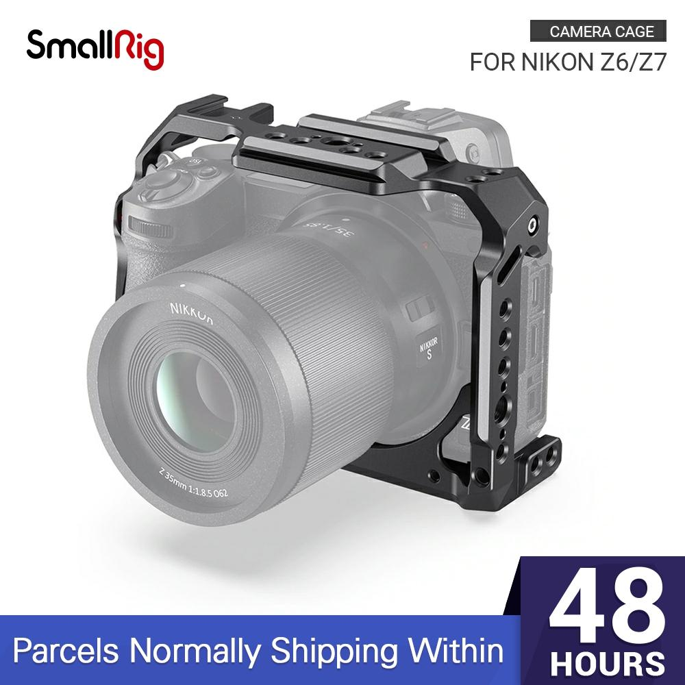 SmallRig Z6/ Z7 Camera Cage for Nikon Z6 Cage Stabilizer For Nikon Z7 Form fitting Cage With Cold Shoe Mount Nato Rail 2243|Camera Cage| - AliExpress