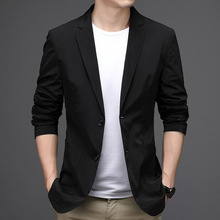 Men Blazers Costume Jacket Slim-Fit Luxury Suit Casual Youth Brand Outerwear Homme Masculino