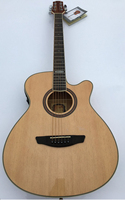 electro acoustic guitar with EQ tuner 40 inch 6 string cutway sunburst color folk guitar acoustic electric guitar