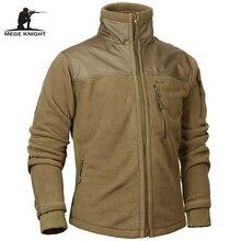 Mege Marca Roupas Tático militar Exército Jaqueta Polar Fleece Inverno dos homens do Outono Quente Casaco Masculino Outwear jaquetas masculino