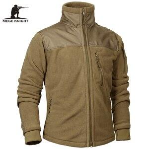 Image 1 - Mege Marke Taktische Bekleidung military Fleece Herbst Winter herren Jacke Armee Polar Warme Männlichen Mantel Outwear jaquetas masculino
