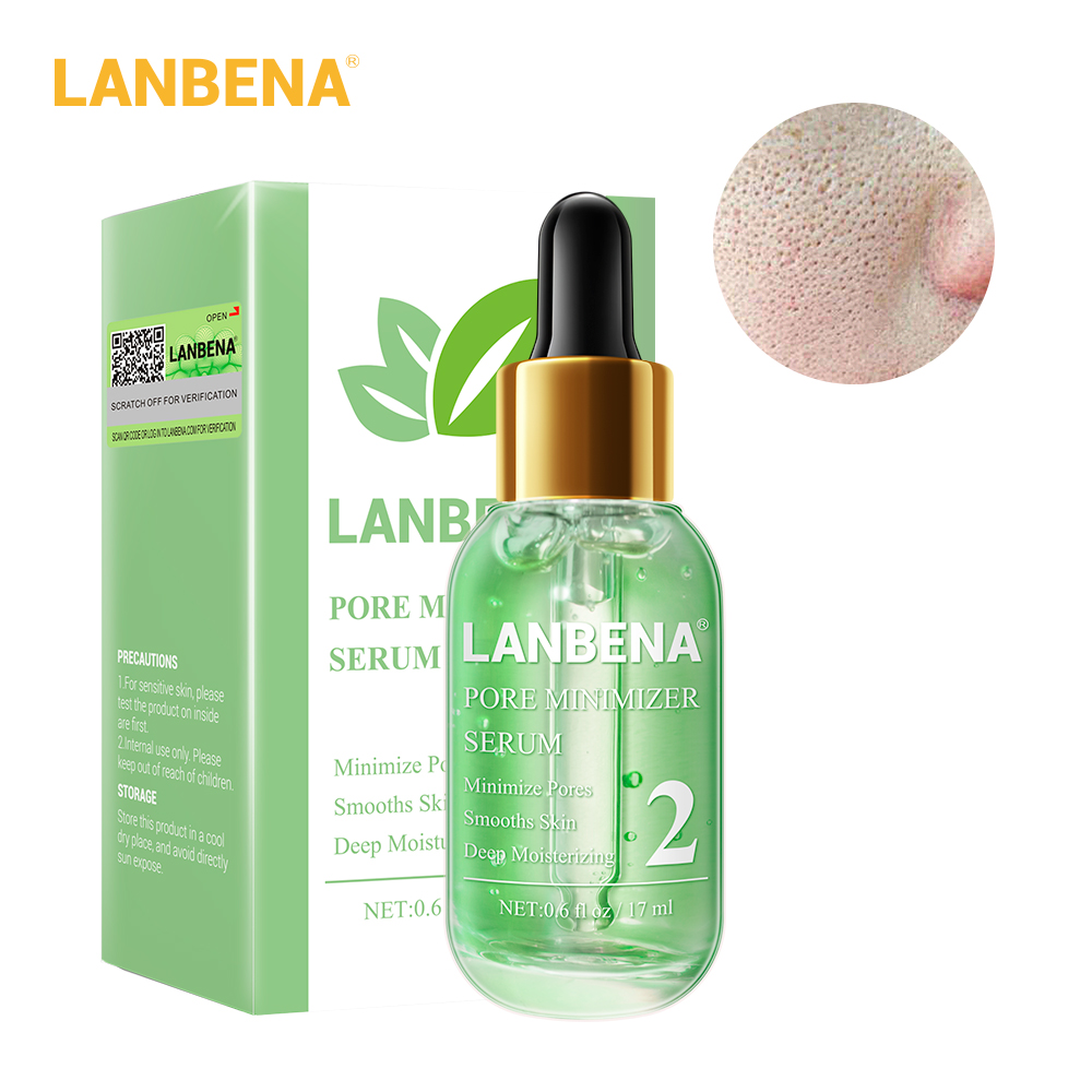 LANBENA Beauty Face Serum Skin Care Remove Blackheads Shrink Pores Peeling Acne Treatment Refining Essence Deep Cleaning Smooth