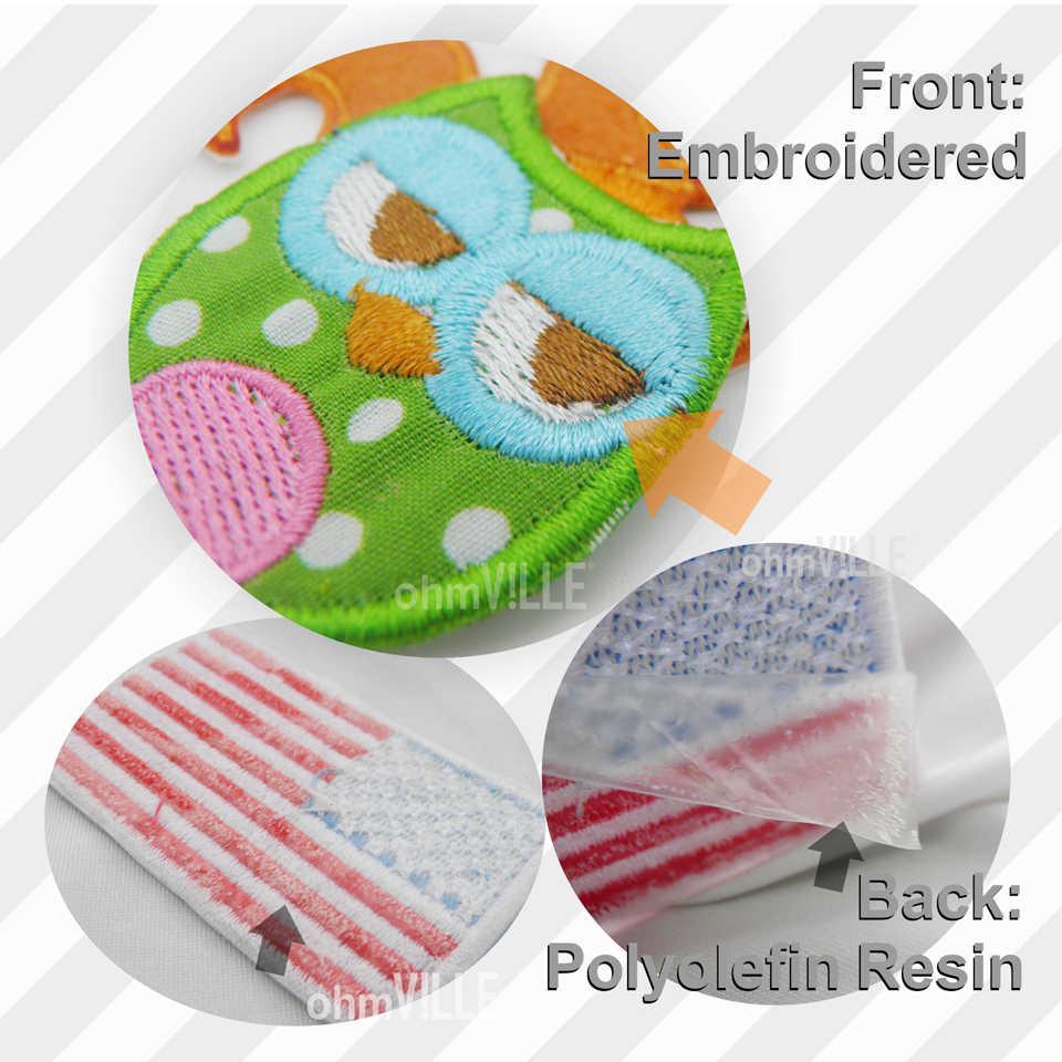 新着カスタムパッチ刺繍パッチの 3D 刺繍カスタマイズまたはフックあなたのためのロゴ服エコフレンドリー