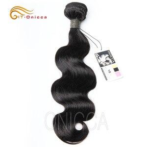 Brazilian Hair Weave Bundles 8 to 22 24 Inch Body Wave Non Remy Human Hair Extension 1 3 4 Bundle Deals Natural Color Htonicca