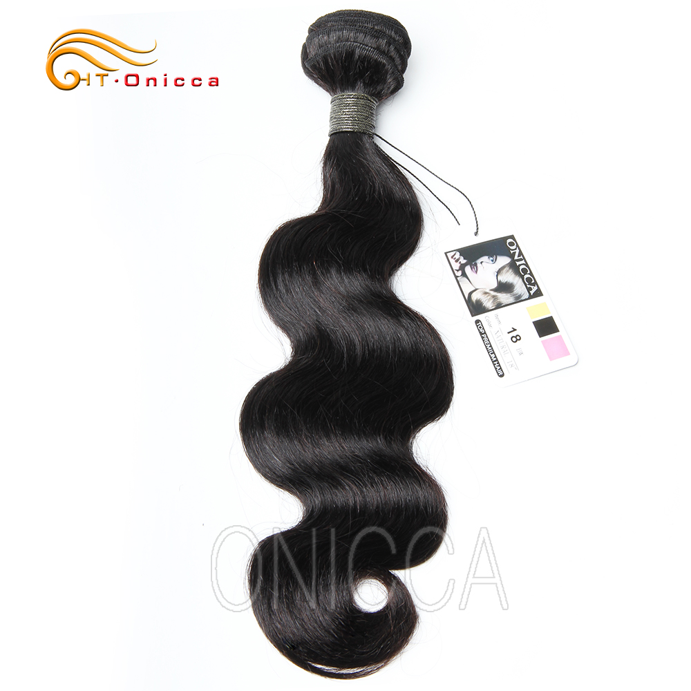 Brazilian Hair Weave <font><b>Bundles</b></font> 8 to <font><b>22</b></font> 24 <font><b>Inch</b></font> Body Wave Non Remy Human Hair Extension 1 3 4 <font><b>Bundle</b></font> Deals Natural Color Htonicca image